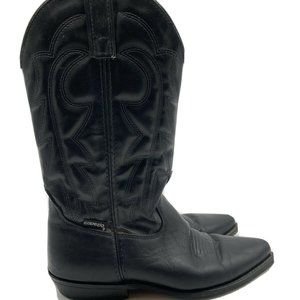 Capezio Western Cowgirl Leather Boots Black Boots
